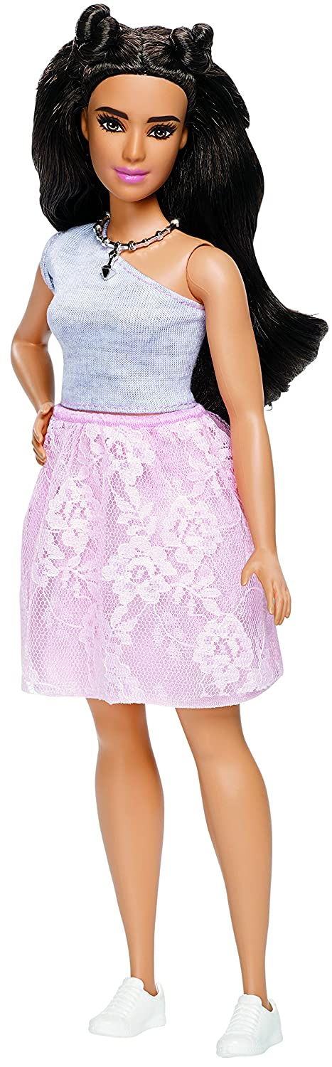Barbie Fashionistas #65 Powder Pink Lace Doll,Curvy Mattel DYY95