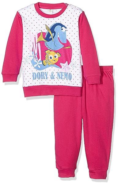 Disney Pigiama Lungo Bimba Neonato Dory, Pijama para Bebés, Fucsia, 12-18