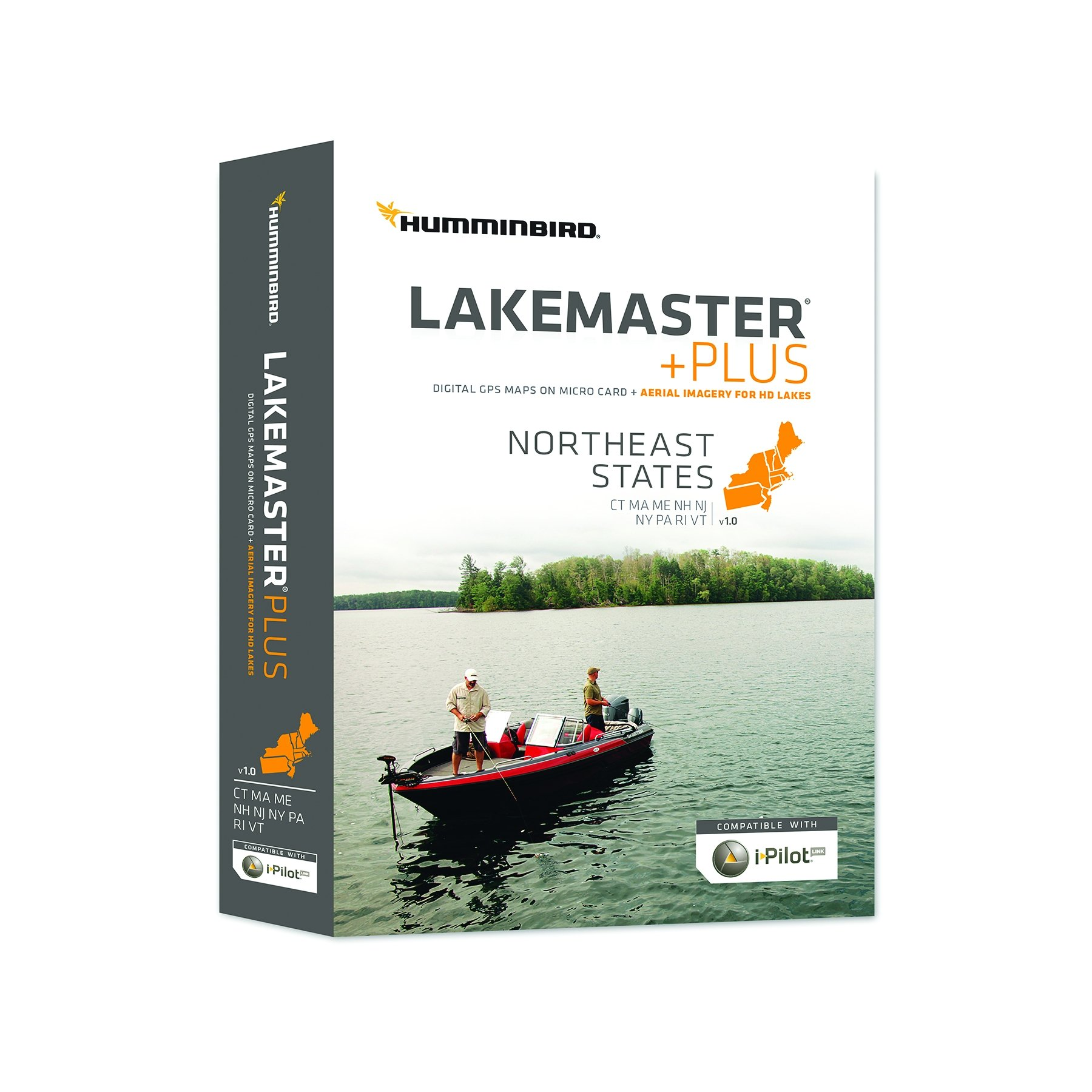 Humminbird Lakemaster Northeast States Contour Map Software, Black