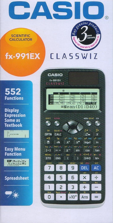 Casio fx 991ex scientific calculator fx 991 ex new 552 function casio fx 991ex scientific calculator fx 991 ex new 552 function classwiz amazon office products falaconquin