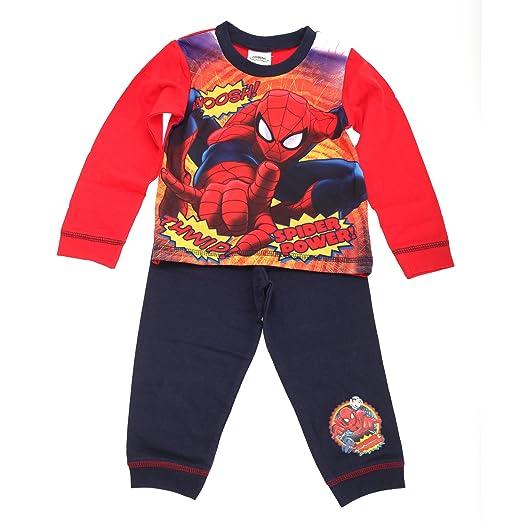 Marvel - Pijama de Spiderman para niños (18-24 años/Azul marino): Amazon.es: Ropa y accesorios