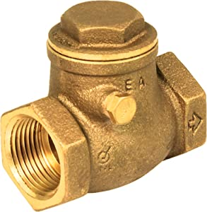 Everflow 210T034-NL 3/4-Inch Lead Free Brass Swing Check Valve with Female NPT Threaded, 200 PSI WOG & 125 PSI SWP Brass Construction Higher Corrosion Resistance Economical Durable & Easy to Install