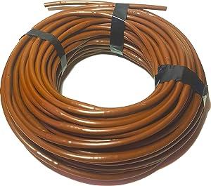 DIG 1/4-Inch x 100-Feet Irrigation/Hydroponics Dripline with 9-Inch Emitter Spacing (Brown)