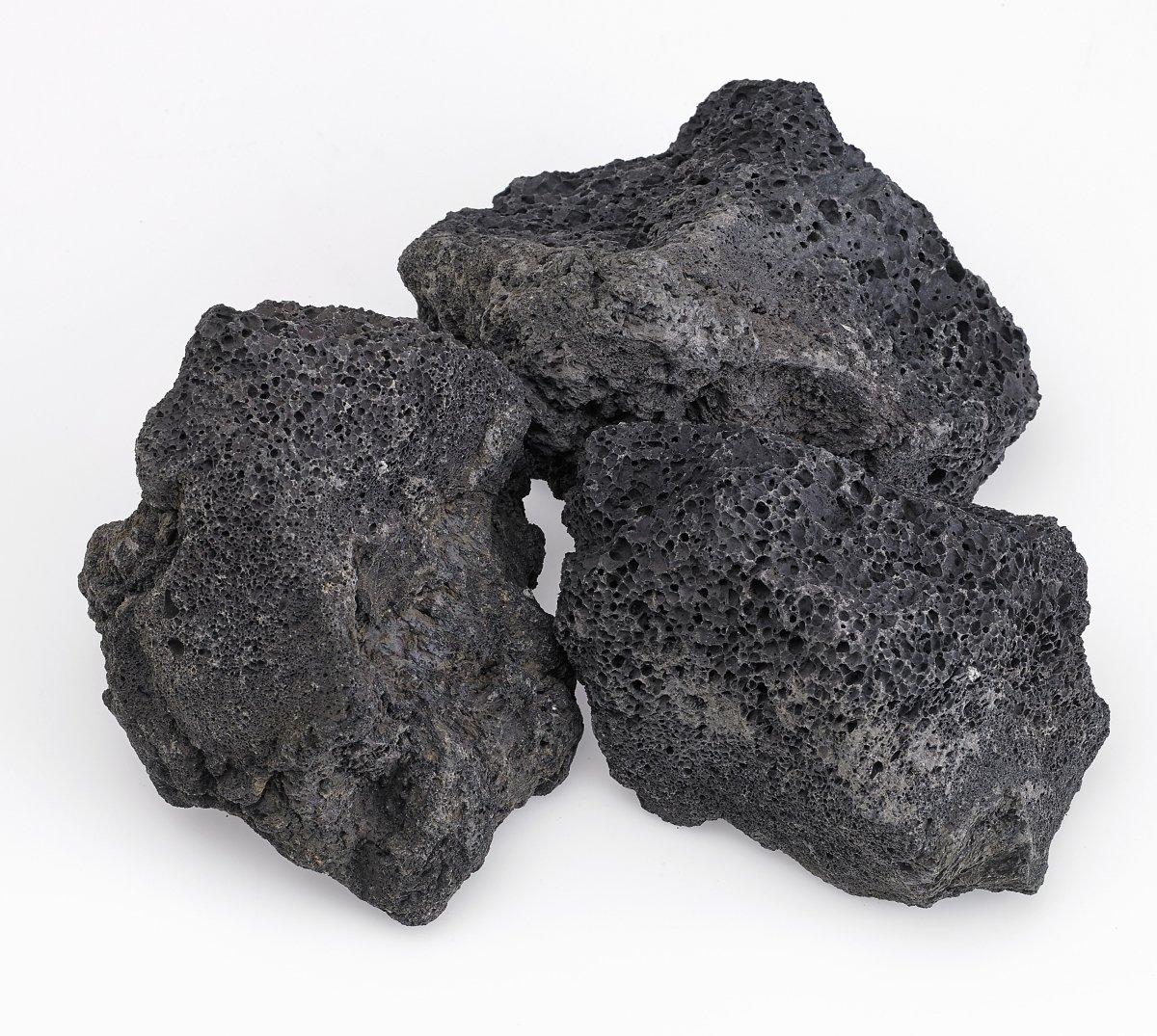 American Fire Glass XXL Black Lava Rock (4'' - 6'') 10 lb Bag 10 Pounds/Extra Large/Black