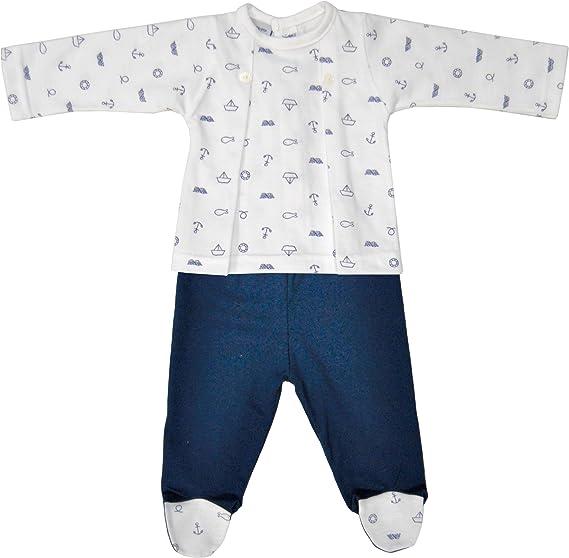 BABIDU 56235, Conjunto de Ropa Interior Unisex bebé, Azul (Marino 001),