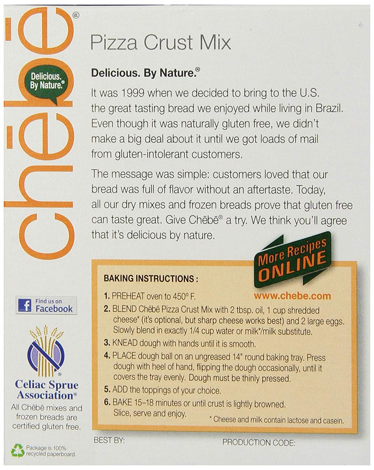Chebe Bread Pizza Crust Mix, Gluten Free, 7.5-Ounce Box (Pack of 8) (Limited Edition) by Chebe Bread. (Image #3)