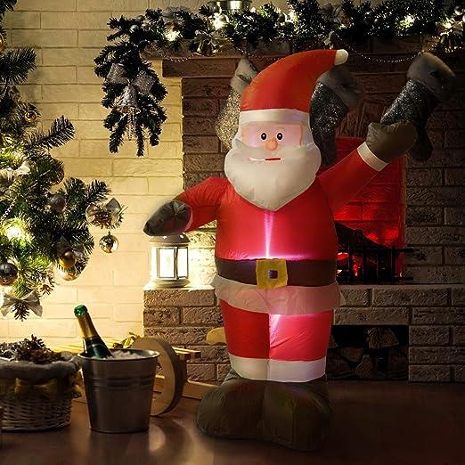 MD grupo Navidad Papá Noel hinchable 4 pies Airblown Navidad ...
