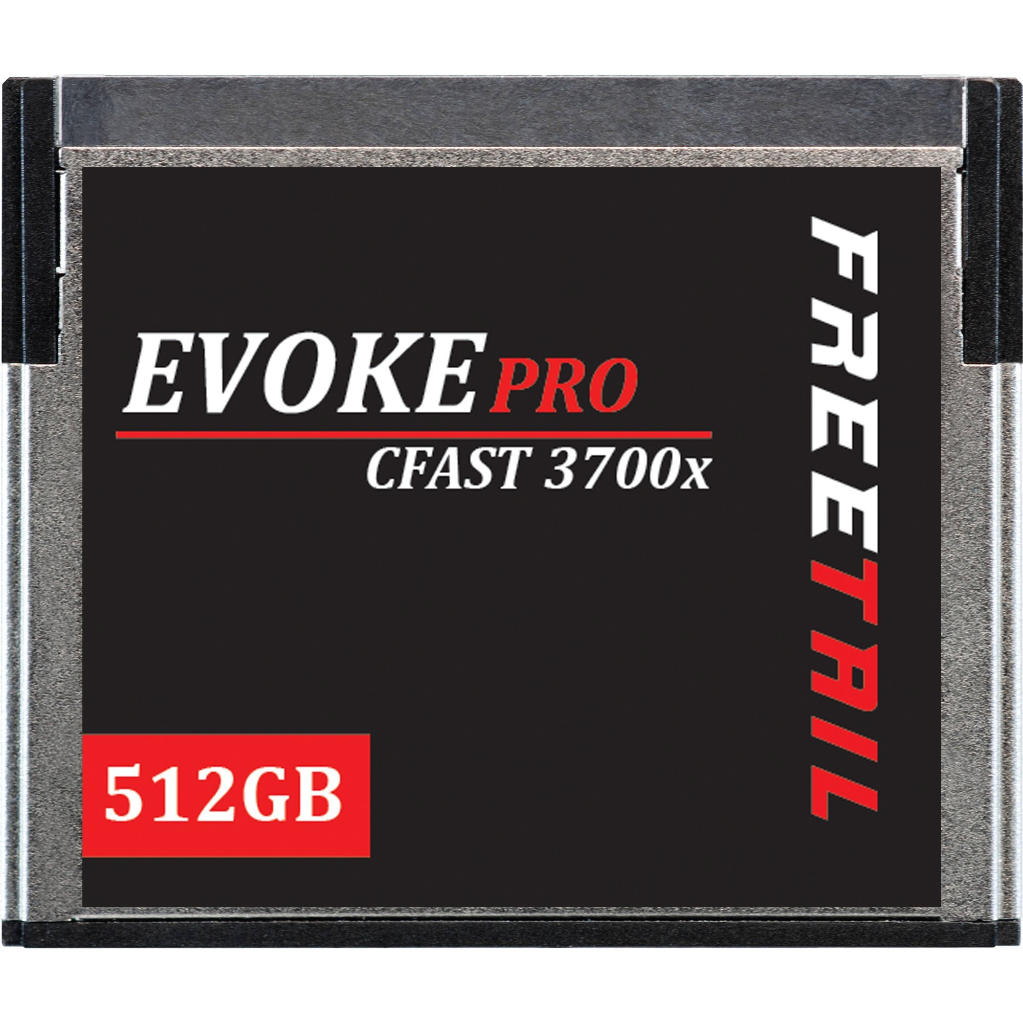FreeTail Evoke Pro 512GB Cfast Card Speeds up to 560MB/s, VPG 130 Made for Canon, Black Magic, Hasselblad, and Phantom Devices (FTCF512A37) by FreeTail