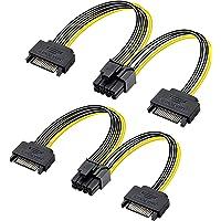 GELRHONR 2 STKS SATA naar PCI-E kabel, dubbele SATA 15pin naar 8pin (6+2pin) PCI-E voedingskabel Y-splitter…