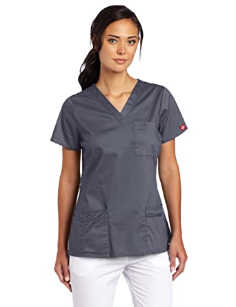 ddab91f2916 Amazon.com: Dickies Scrubs Women's Gen Flex Junior Fit Solid Stitch ...
