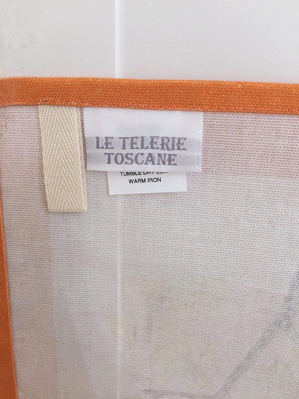 NEW Le Telerie Toscane Italy Cotton Printed Kitchen Tea Towel Pumpkins Gourds