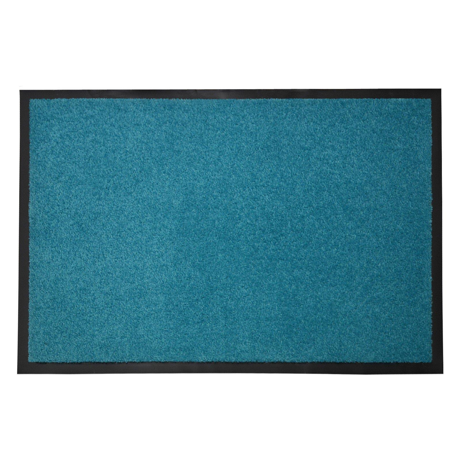 casa pura Entrance Floor Mat, Turquoise, 36'' x 48'' | Absorbent, Non-slip, Indoor/Outdoor (Multiple Sizes)