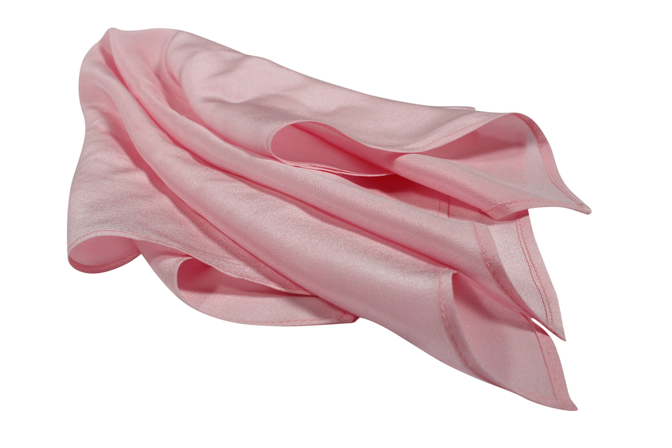 Fine Pink Silk Pocket Square - Full-Sized 16''x16'' by Royal Silk (Image #3)