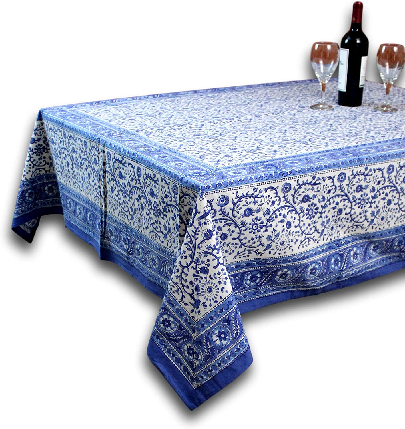 "Homestead Rajasthan Block Print Tablecloth-60 x 90"" Rectangle"