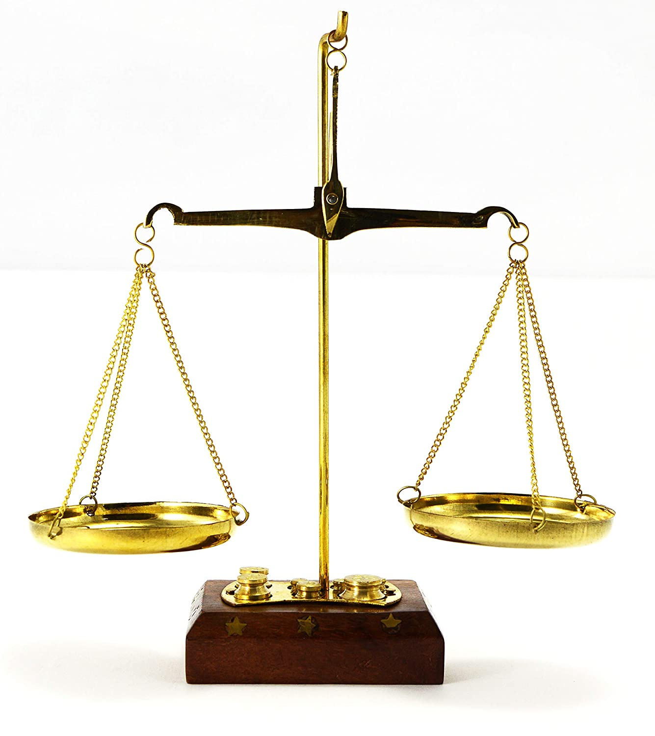Old Traditional Weight (tarazu) showpiece Brass Weighing Scale Balance Justice Law Scale Classic Gift Collection
