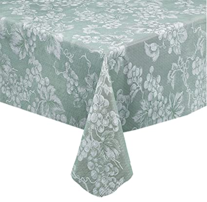 Merveilleux Grapevines Contemporary Grape Print Heavy 4 Gauge Vinyl Flannel Backed  Tablecloth, Indoor/Outdoor Wipe