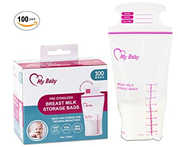 Amazoncom 8 Ounce Breast Milk Storage Bags Breastfeeding