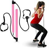 Pilates Bar Home Gym Equipment - A Strength Training Equipment, and Pilates Bar with Resistance Bands, All-in-one Home…
