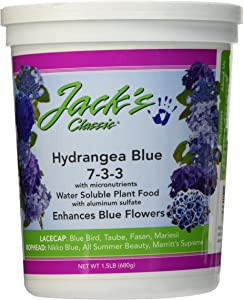 J R Peters Inc 59324 Jacks Classic No. 7-3-3 Hydrangea Fertilizer, Blue (1.5 lb)