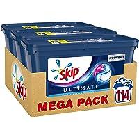 Skip Lessive Capsules Trio Ultimate Active Clean 38 Lavages - Pack de 3