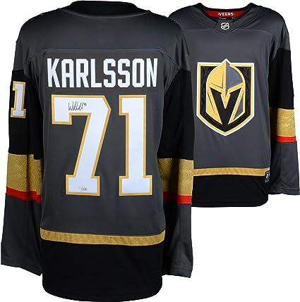 best service d67af 5f943 William Karlsson Vegas Golden Knights Autographed Black ...
