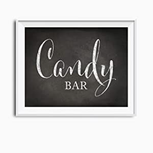 Andaz Press Wedding Party Signs, Vintage Chalkboard Print, 8.5x11 inch, Candy Bar Reception Dessert Table Sign, 1 Pack, Food Candy Bar