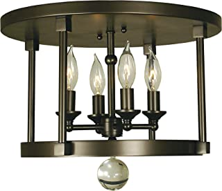 product image for Framburg 1102 BN 4-Light Compass Flush/Semi-Flush Mount, Brushed Nickel