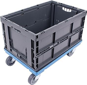 PLATAFORMA CON RUEDAS 60x40 + CAJA PLEGABLE 61L, caja plegable de ...