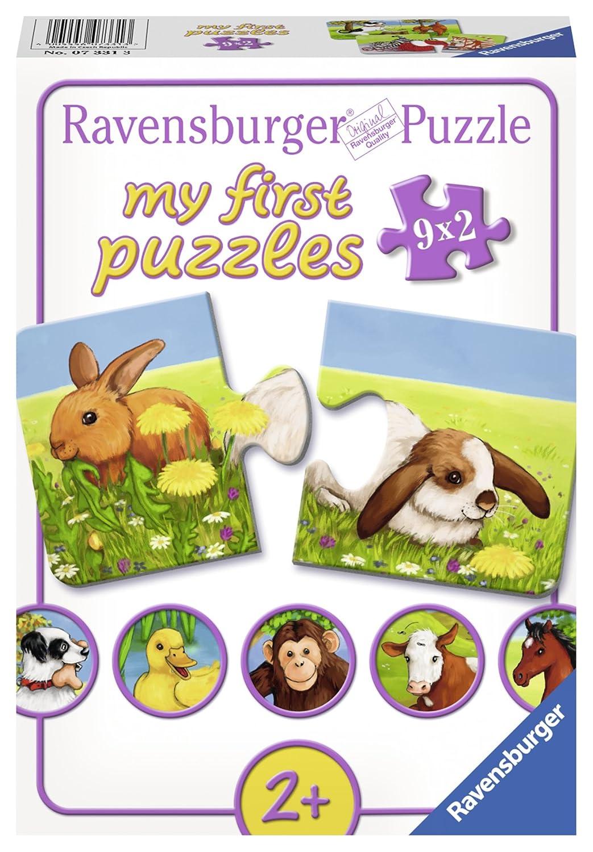 Ravensburger Mi primer puzzle: Animales simpáticos piezas