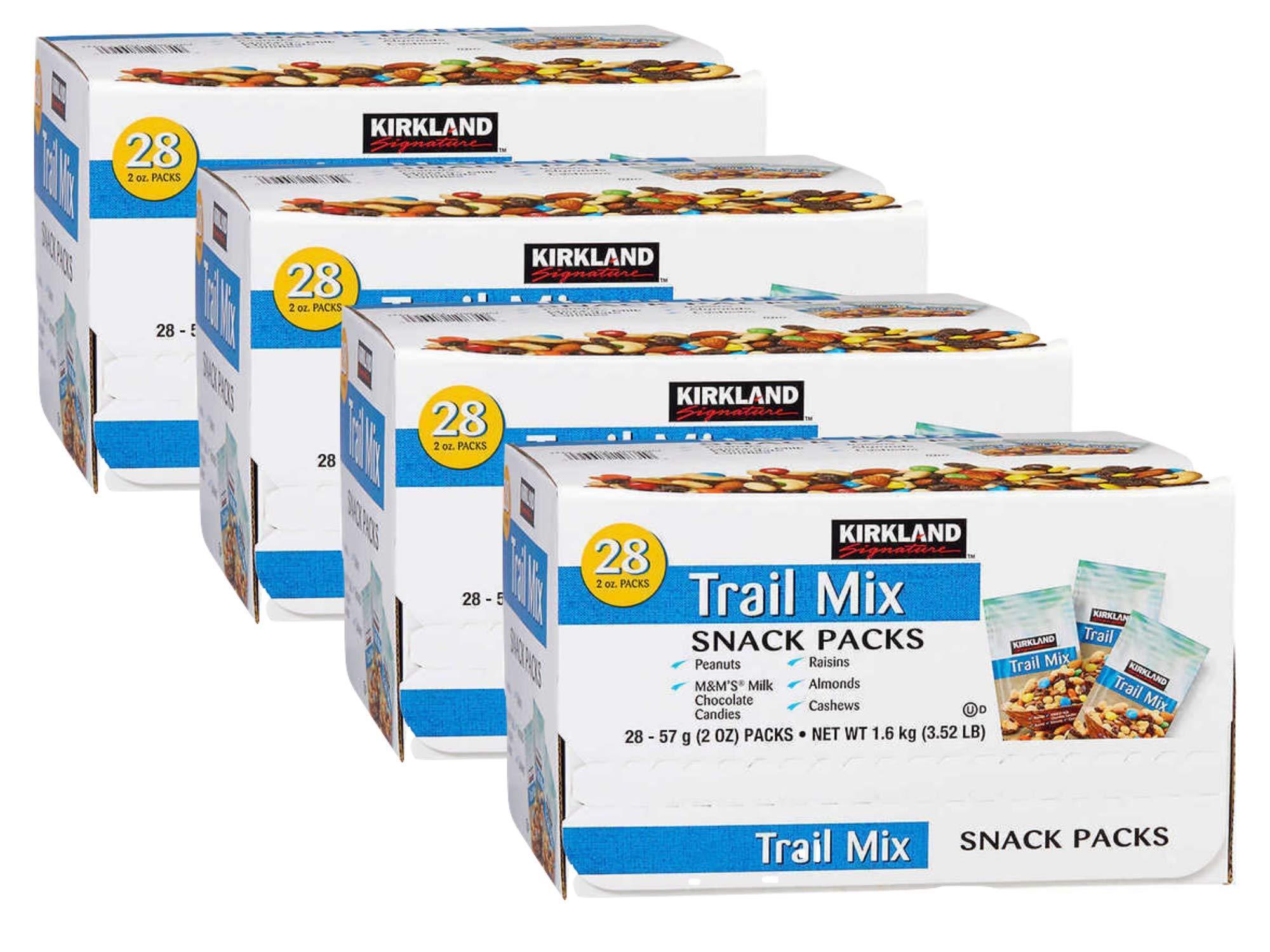 Kirkland Signature Trail Mix - 28 count, 3.52 lb box (Pack of 4)