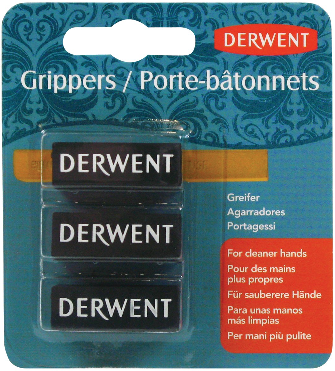 Derwent Grippers, Small, Pack, 3 Count (2300449) ACCO Brands