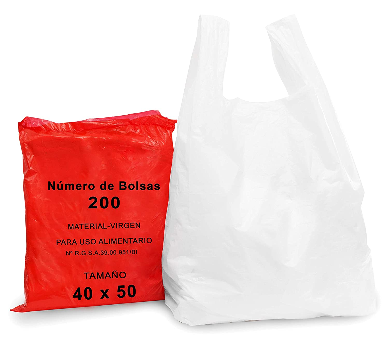 BOLSA PLÁSTICO COMPRA BP 40X50 BLANCA: Amazon.es: Bricolaje ...