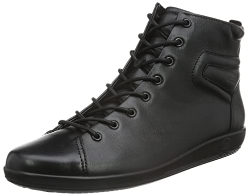 2f4ef148fc104c ECCO Damen Soft 2.0 Chelsea Boots Schwarz (BLACKWITHBLACKSOLE 56723) 35 EU