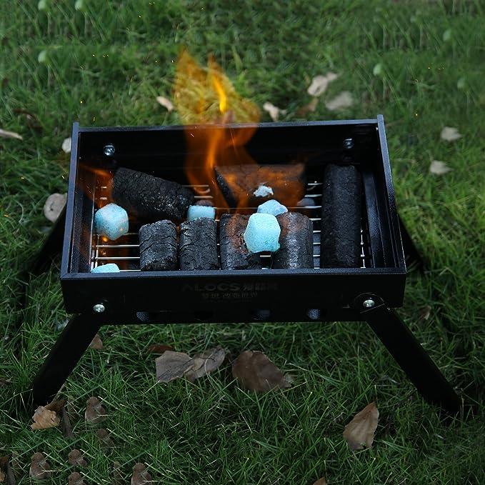 OUTAD Parrilla de Carbón Plegable,de Picnic al Aire Libre o en Casa