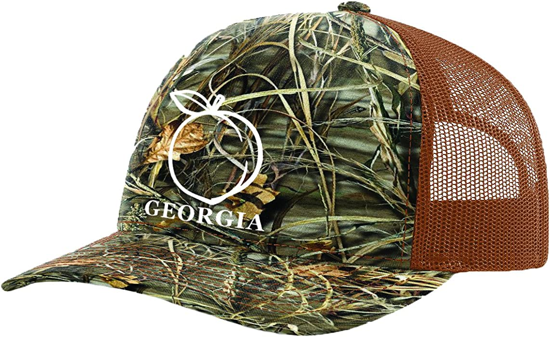 9f6ddf363c0 Heritage Pride Georgia Peach Embroidered Trucker Hat-Realtree