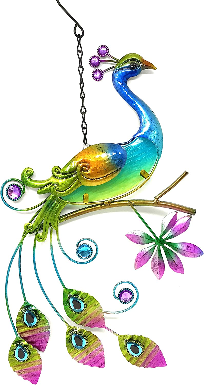 Bejeweled Display® Peacock w/Glass Wall Art Plaque & Home Decor