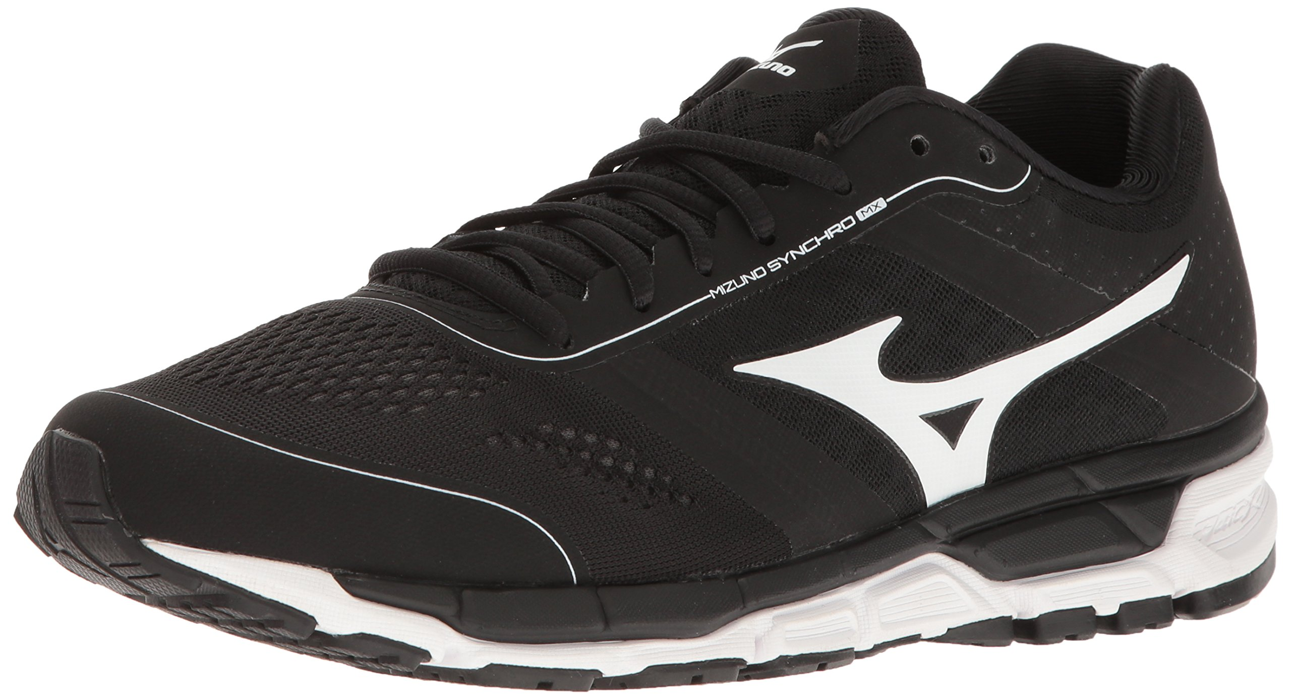 Mizuno Men's Synchro Mx Baseball Shoe, Black/White, 13 D US
