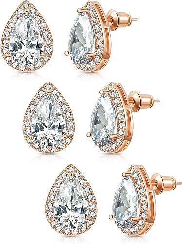 Bridesmaid Earring AAA+ Zirconia Round Earring Round Cubic Zirconia Earring Bridal Earring.