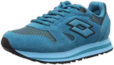 Sport Damen Trainer Viii NY W Sneakers, Blau (Grn Aga/Blu Skp), 38.5 EU Lotto