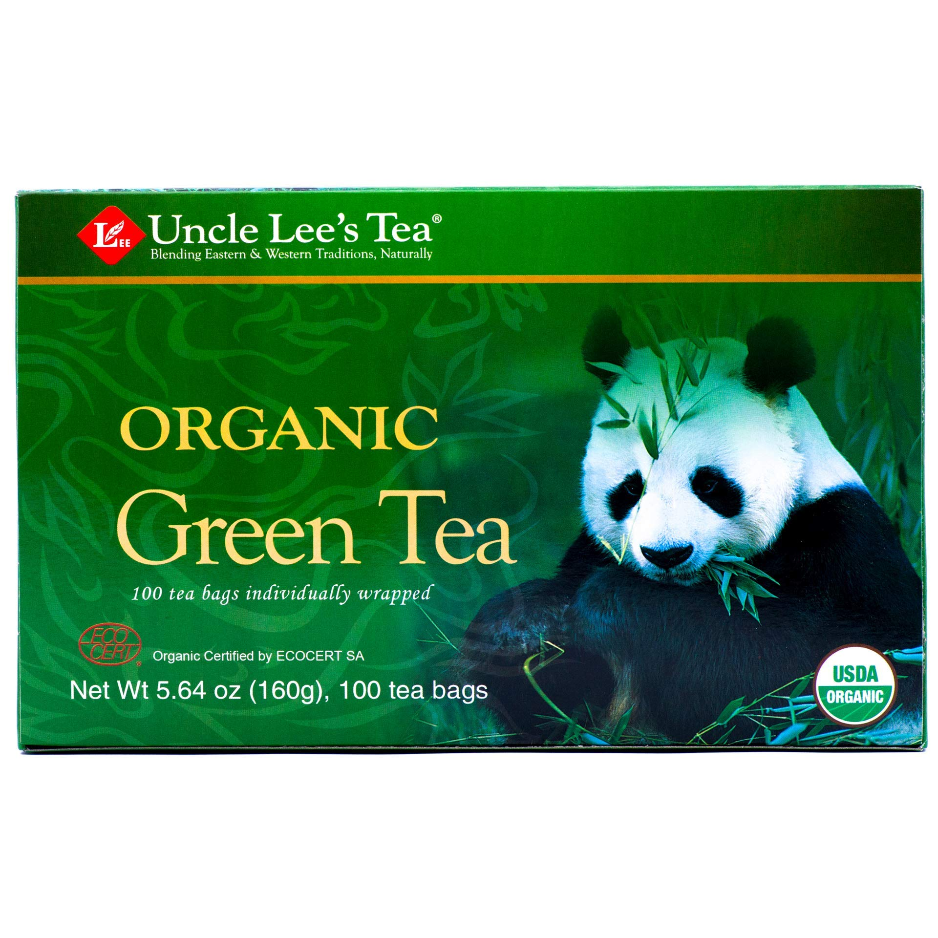 Uncle Lee's Tea Organic Green Tea, 100-Count Box (Pack of 4) by Uncle Lee's Tea