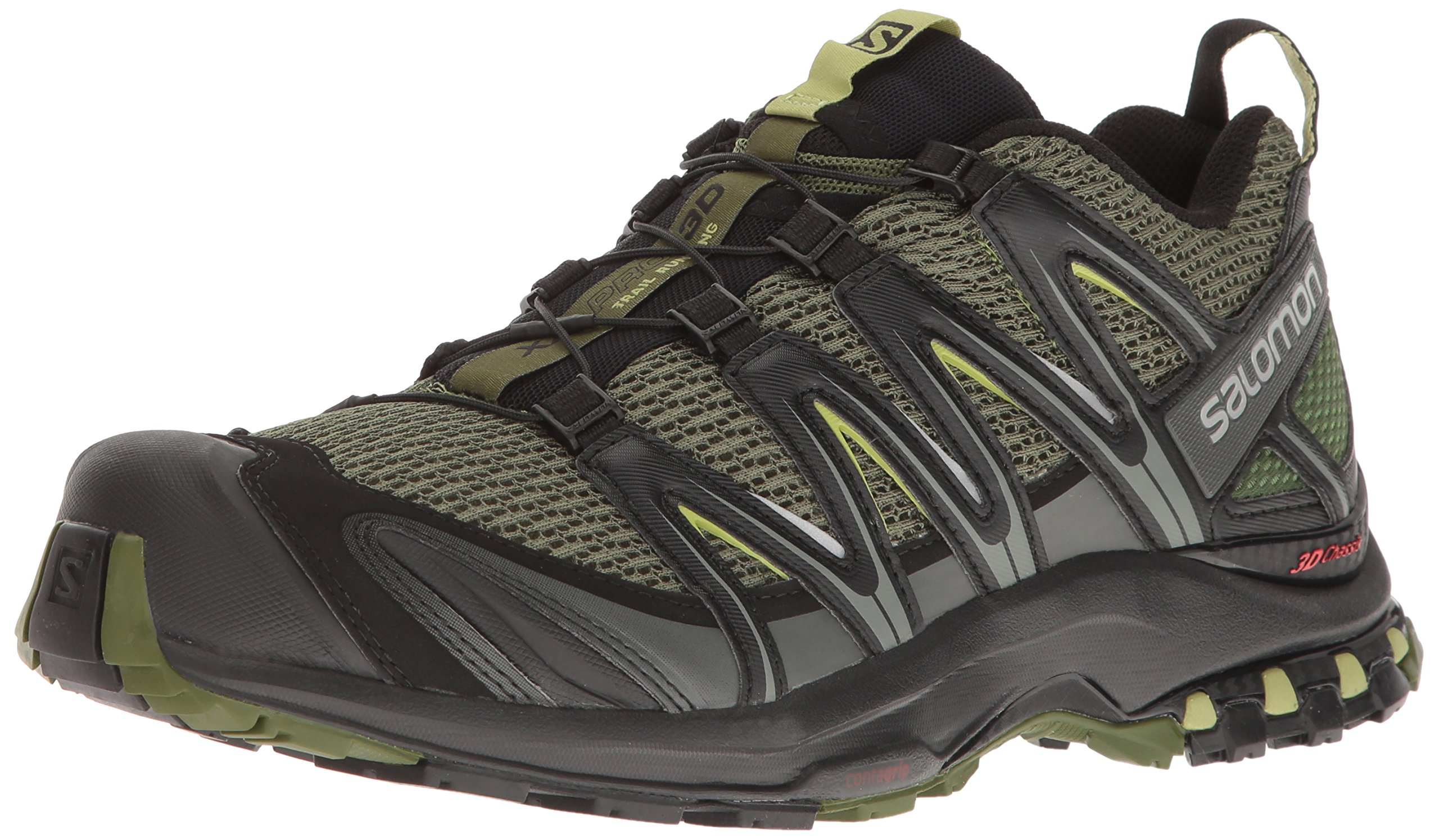 Salomon Men's XA PRO 3D Trail Runner, Chive, 7 M US by SALOMON