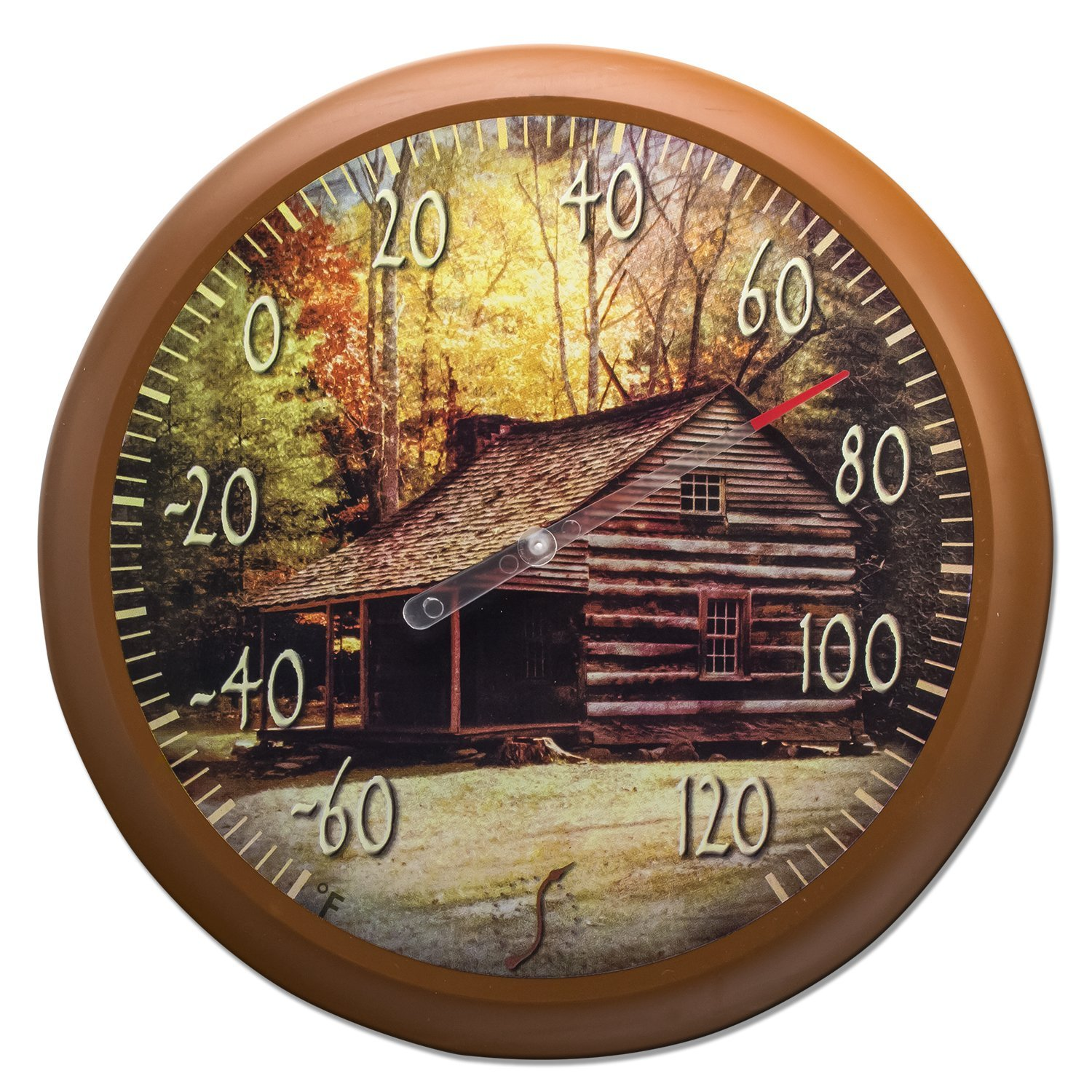 Springfield Lodge Low Profile Patio Thermometer (13.25-Inch)