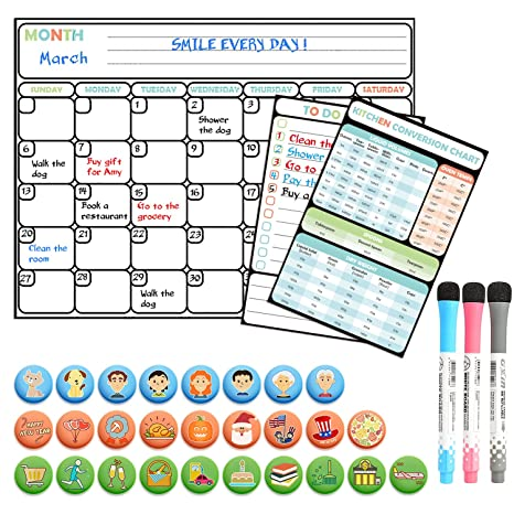 Amazon Magnetic Dry Erase Calendar Set Large Reusable Monthly
