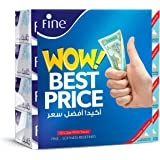 Fine Facial Tissues - Pack of 4 Boxes, 150 Sheets x 2 ply (6251001246780)