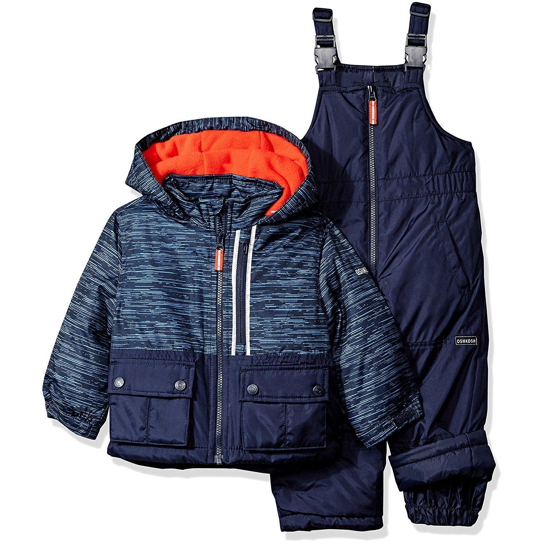 Osh Kosh Little Boys' Ski Jacket and Snowbib Snowsuit Set, Current Navy, 4