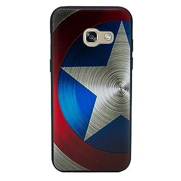 I-CHOOSE LIMITED 3D Marvel Funda/Carcasa del Teléfono para Samsung Galaxy A3 2016 Gel/TPU / Capitán América - Escudo