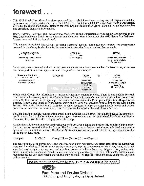 Amazon.com: 1982 Ford Med Duty Heavy Duty Shop Service Repair Manual CD  Engine Drivetrain: Automotive