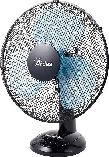 Ventilatore da Tavolo a Pale 40 cm Oscillante 3 Velocità Nero Ardes Easy 40