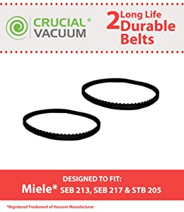 2 Miele Power Nozzle Belts, Part # 4897760
