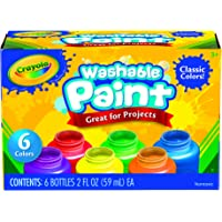 Crayola Washable Kids Paint, 6 Count, Kids At Home Activities, Painting Supplies, Gift